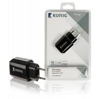 Universele USB lader in de kleur wit of zwart