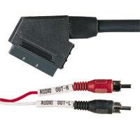 SCART - TULP Audio kabel 3meter